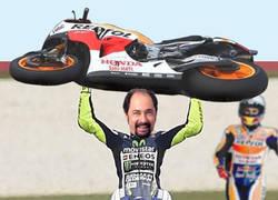 Enlace a El Señor Rossi vengándose de Márquez