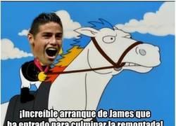 Enlace a James entró demasiado tarde contra el Sevilla