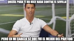 Enlace a Cristiano analiza su partido contra el Sevilla