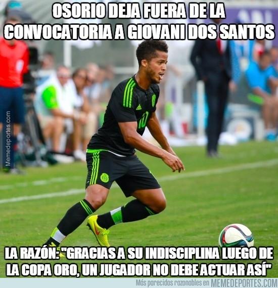 731159 - Osorio deja fuera de la convocatoria a Giovani Dos Santos