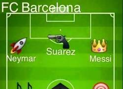 Enlace a La plantilla del Barcelona vista desde emojis del WhatsApp
