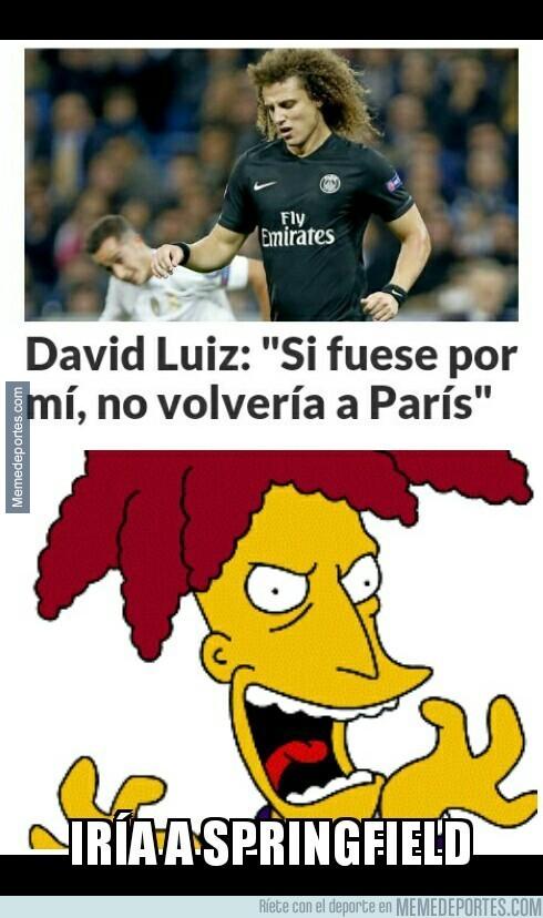 734100 - David Luiz no quiere volver a París