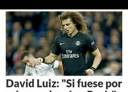 Enlace a David Luiz no quiere volver a París