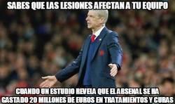 Enlace a La mala suerte de Arsene Wenger