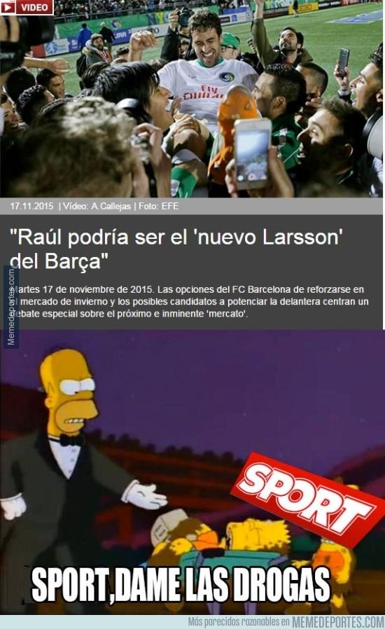 735834 - Según Sport, Raúl podría ser el nuevo Larsson del Barcelona