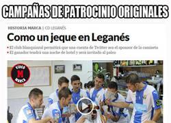 Enlace a Original campaña de patrocinio que lanza el Leganés