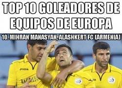 Enlace a Ahora que llegamos al finde, éste es el actual Top 10 goleadores de Europa