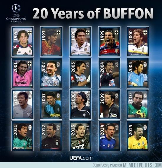 736222 - La UEFA homenajea a Buffon con este mosaico
