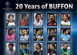 Enlace a La UEFA homenajea a Buffon con este mosaico