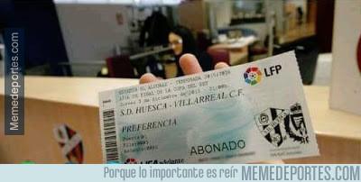 736375 - FAIL La SD Huesca vende entradas de Copa Del Rey contra el Villareal con escudo del Valladolid