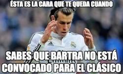 Enlace a Bale no podrá repetir su jugada favorita contra Bartra