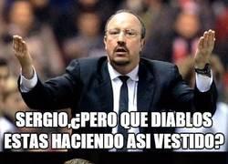 Enlace a Benítez se está cansando de Sergio Ramos