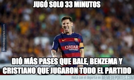 741296 - Messi dio más pases que muchos otros que jugaron todo el partido