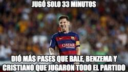Enlace a Messi dio más pases que muchos otros que jugaron todo el partido
