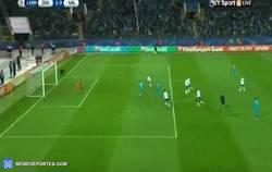 Enlace a GIF: Gol del Shatov que adelanta al Zenit