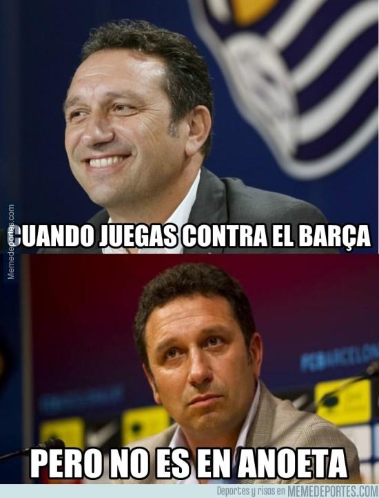 743852 - El entrenador de la Real al ver que no podrán ganarle al Barça