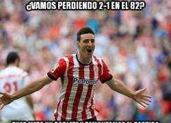 Enlace a Enorme Aduriz salvando al Athletic