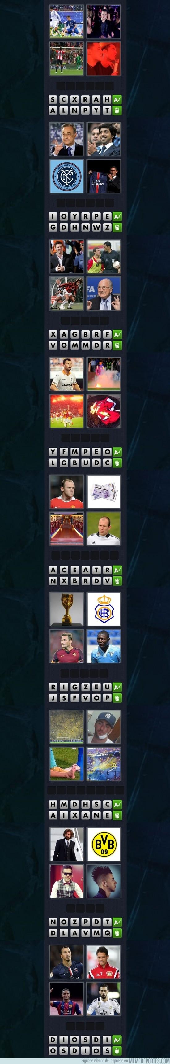 744411 - 4 fotos y una palabra: versión fútbol