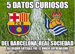 Enlace a 5 datos curiosos del Barça-Real Sociedad