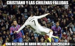 Enlace a Cristiano y las chilenas fallidas