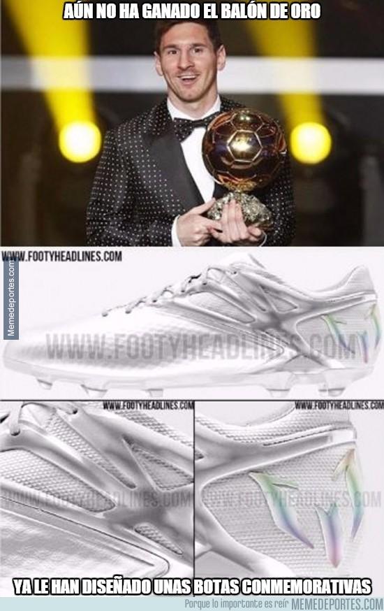 747980 - Botas blancas para celebrar el próximo Balón de Oro de Messi