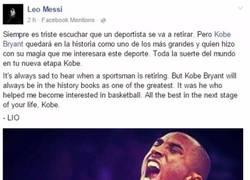 Enlace a El adiós de Messi a Kobe Bryant
