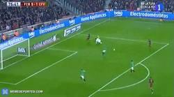 Enlace a GIF: Y llega el segundo de Munir, partido fácil para el Barça 6-1