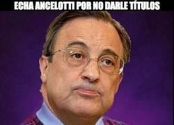 Enlace a Echa Ancelotti por no darle títulos