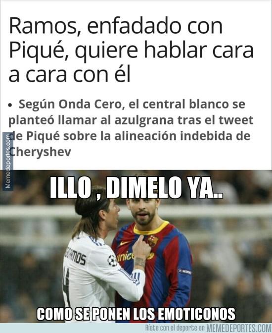 750364 - Ramos, enfadado con Piqué por...