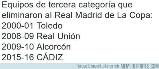 750531 - Aquí los equipos pequeños que han eliminado al Real Madrid en Copa del Rey