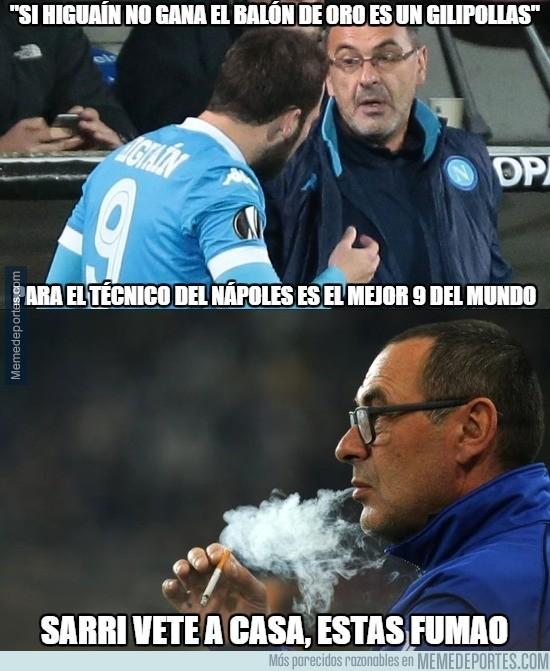 752000 - El entrenador del Napoli sobre Higuaín