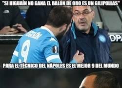 Enlace a El entrenador del Napoli sobre Higuaín
