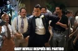 Enlace a Gary Neville después del partido