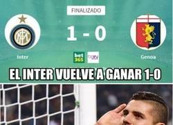 Enlace a El Inter vuelve a la tradición de ganar 1-0