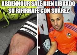 Enlace a Abdennour sale bien librado su rifirrafe con Suárez