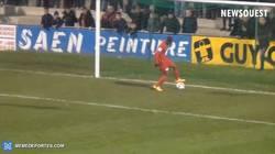 Enlace a GIF: Curioso gol en la Copa de Francia. ¿Humillación o recurso?