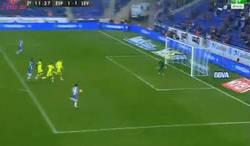 Enlace a GIF: Gooooolazo de Espanyol que empata el partido al Levante