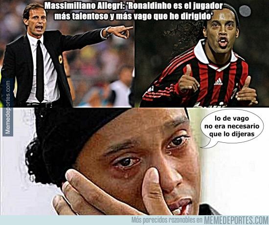 753228 - Ronaldinho no está muy feliz con las declaraciones de Allegri