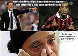 Enlace a Ronaldinho no está muy feliz con las declaraciones de Allegri