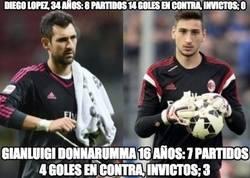 Enlace a Donnarumma dándole un repaso a Diego López