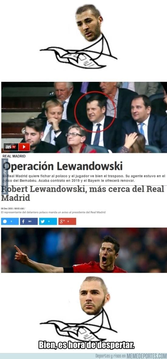 753695 - Desde que sonó Lewandowski, Benzema despertó
