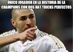 Enlace a Benzema, único jugador en la historia de la champions con dos hat tricks perfectos