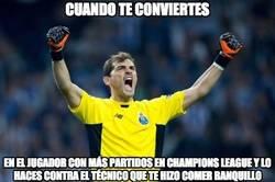 Enlace a Casillas haciendo historia en Champions