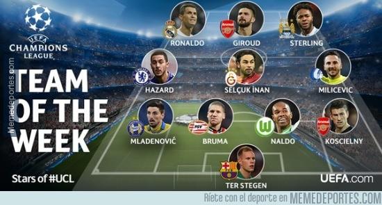 755869 - El XI ideal de la jornada 6 de la Champions League ¡Apareció Hazard!