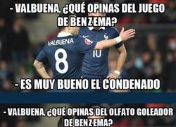 Enlace a Ronda de chistacos de Benzema y Valbuena