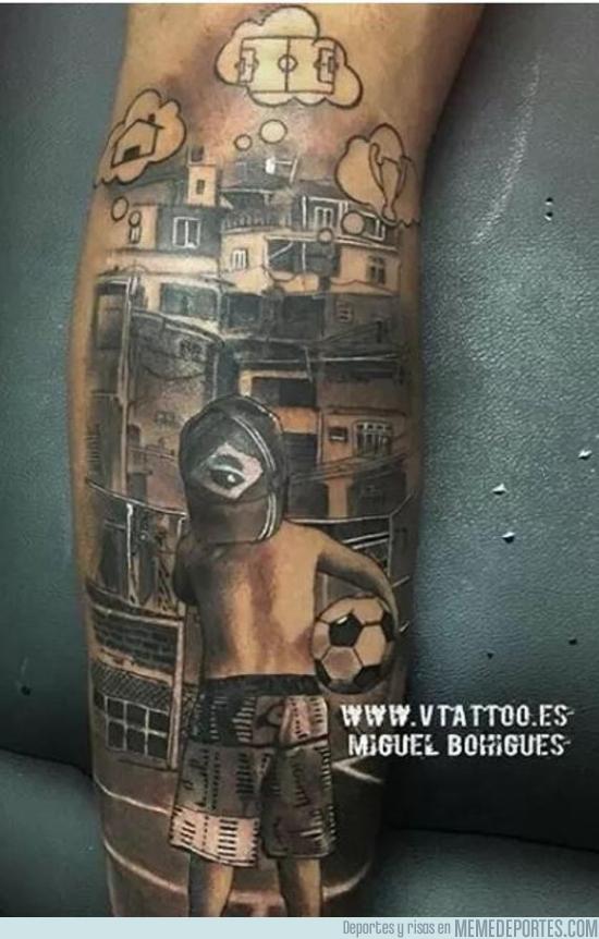 756177 - Tremendo tatuaje de Neymar que hace homenaje a a sus orígenes