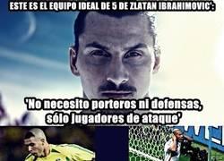 Enlace a El equipo ideal de Zlatan Ibrahimovic'.