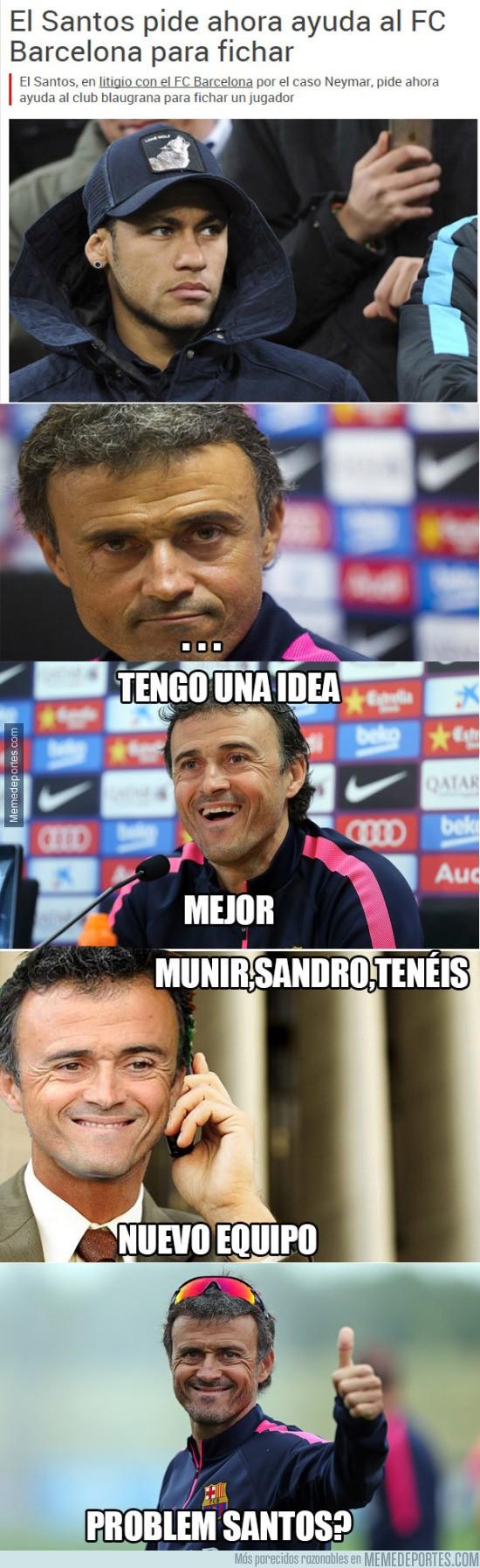 758243 - El Santos le pide ayuda al Barça