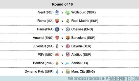 759509 - Así quedaron los octavos de finales de la Champions League, ¿mejor partido y equipo con más ventaja?