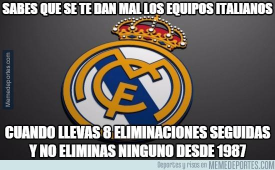 759573 - El Real Madrid lleva 8 KOs (si, 8) consecutivos ante rivales italianos a doble partido